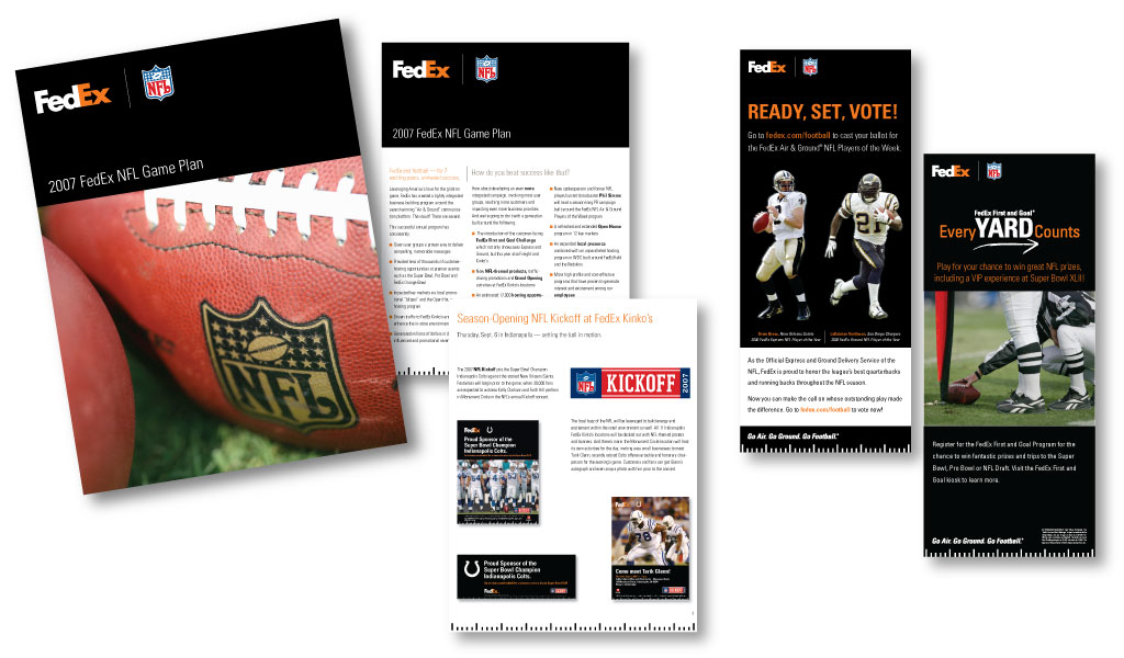 FedEx | NFL Sponsorship materials